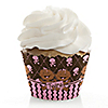Twin Modern Baby Girls African American - Baby Shower Cupcake Wrappers