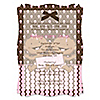Twin Modern Baby Girls African American - Personalized Baby Shower Vellum Overlay Invitations