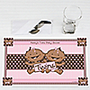 Twin Modern Baby Girls African American - Personalized Baby Shower Placemats