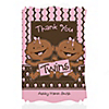 Twin Modern Baby Girls African American - Personalized Baby Shower Thank You Cards