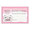 Twin Baby Girls - Personalized Baby Shower Helpful Hint Advice Cards