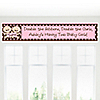 Twin Modern Baby Girls Caucasian - Personalized Baby Shower Banners