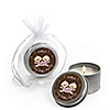 Twin Modern Baby Girls Caucasian  - Personalized Baby Shower Candle Tin Favors