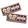 Twin Modern Baby Girls Caucasian - Personalized Baby Shower Candy Bar Wrapper Favors