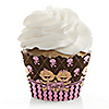 Twin Modern Baby Girls Caucasian - Baby Shower Cupcake Wrappers