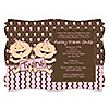 Twin Modern Baby Girls Caucasian  - Personalized Baby Shower Invitations