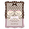 Twin Modern Baby Girls Caucasian - Personalized Baby Shower Vellum Overlay Invitations