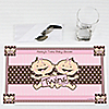 Twin Modern Baby Girls Caucasian  - Personalized Baby Shower Placemats