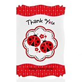 Twin Modern Ladybugs - Personalized Baby Shower Thank You Cards
