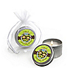 Twin Monkeys 1 Boy & 1 Girl - Personalized Baby Shower Candle Tin Favors