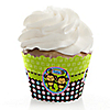 Twin Monkeys 1 Boy & 1 Girl - Baby Shower Cupcake Wrappers