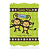 Twin Monkeys 1 Boy & 1 Girl - Personalized Baby Shower Thank You Cards