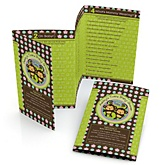 Twin Monkeys 1 Boy & 1 Girl - Fabulous 5 Personalized Baby Shower Games