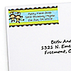 Twin Monkey Boys - Personalized Baby Shower Return Address Labels - 30 ct