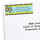 Twin Monkey Boys - Personalized Baby Shower Return Address Labels - 30 Count
