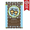 Twin Monkey Boys - Personalized Baby Shower Fabulous 5 Games