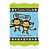 Twin Monkey Boys - Personalized Baby Shower Thank You Cards