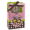 Twin Monkey Girls - Personalized Baby Shower Favor Boxes