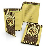 Twin Monkeys Neutral - Fabulous 5 Personalized Baby Shower Games
