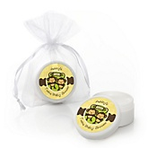 Twin Monkeys Neutral - Personalized Baby Shower Lip Balm Favors