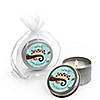 Owl - Look Whooo's Having Twins - Personalized Baby Shower Candle Tin Favors