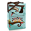 Owl - Look Whooo's Having Twins - Personalized Baby Shower Favor Boxes