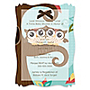 Owl - Look Whooo's Having Twins - Personalized Baby Shower Vellum Overlay Invitations