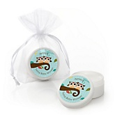 Owl - Look Whooo's Having Twins - Personalized Baby Shower Lip Balm Favors