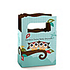 Owl - Look Whooo's Having Twins - Personalized Baby Shower Mini Favor Boxes