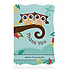 Owl - Look Whooo's Having Twins - Personalized Baby Shower Thank You Cards
