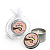 Owl Girl - Look Whooo's Having Twins - Personalized Baby Shower Candle Tin Favors