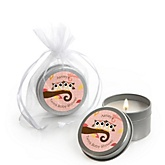 Owl Girl - Look Whooo's Having Twins - Candle Tin Personalized Baby Shower Favors