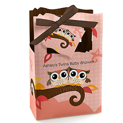 Owl Girl - Look Whooos Having Twins - Personalized Baby Show...