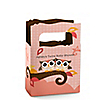 Owl Girl - Look Whooo's Having Twins - Personalized Baby Shower Mini Favor Boxes