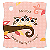 Owl Girl - Look Whooo's Having Twins - Personalized Baby Shower Tags - 20 ct