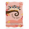 Owl Girl - Look Whooo's Having Twins - Personalized Baby Shower Thank You Cards