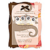 Owl Girl - Look Whooo's Having Twins - Personalized Baby Shower Vellum Overlay Invitations