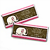 Twin Pink Baby Elephants - Personalized Baby Shower Candy Bar Wrapper Favors