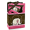 Twin Pink Baby Elephants - Personalized Baby Shower Favor Boxes