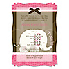 Twin Pink Baby Elephants - Personalized Baby Shower Vellum Overlay Invitations