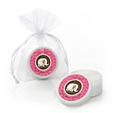 Twin Pink Baby Elephants - Personalized Baby Shower Lip Balm Favors