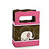 Twin Pink Baby Elephants - Personalized Baby Shower Mini Favor Boxes