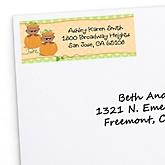 Twin Little Pumpkins African American - Personalized Baby Shower Return Address Labels - 30 ct