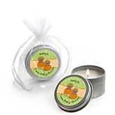 Twin Little Pumpkins African American - Candle Tin Personalized Baby Shower Favors