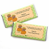 Twin Little Pumpkins African American - Personalized Baby Shower Candy Bar Wrapper Favors