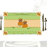 Twin Little Pumpkins African American - Personalized Baby Shower Placemats