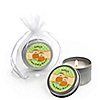 Twin Little Pumpkins Caucasian - Personalized Baby Shower Candle Tin Favors