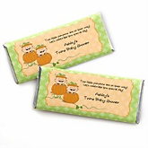 Twin Little Pumpkins Caucasian - Personalized Baby Shower Candy Bar Wrapper Favors