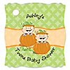 Twin Little Pumpkins Caucasian - Personalized Baby Shower Tags - 20 ct