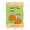 Twin Little Pumpkins Caucasian - Personalized Baby Shower Thank You Cards